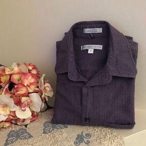 Geoffrey Beene Collar Dress Shirt Sz M Purple *43H